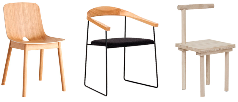 I love mixing up dining chairs, it gives the space big a dose of personality. Keeping one common theme ties it together, such as a common material like wood. These chairs are a few favorites in our selection at the  Apartment.