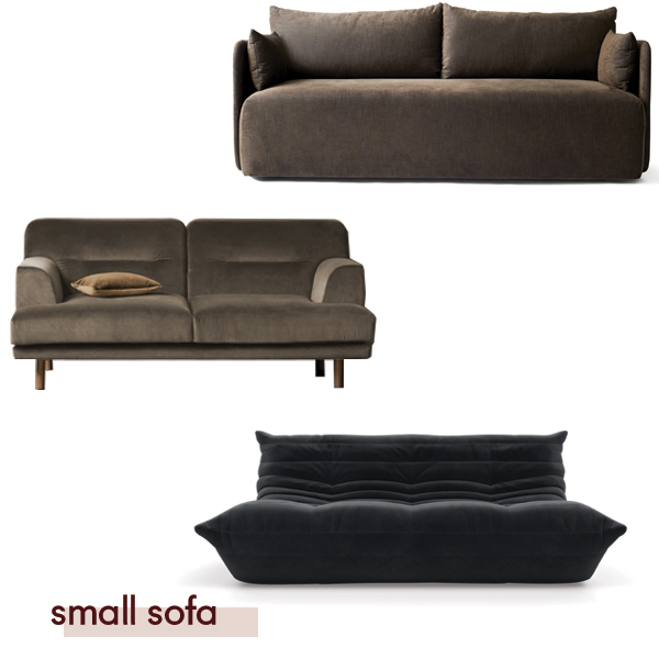 Offset sofa by Menu from the  Apartment by Sisalla , Camille sofa by  Anaca Studio , Togo from  Domo