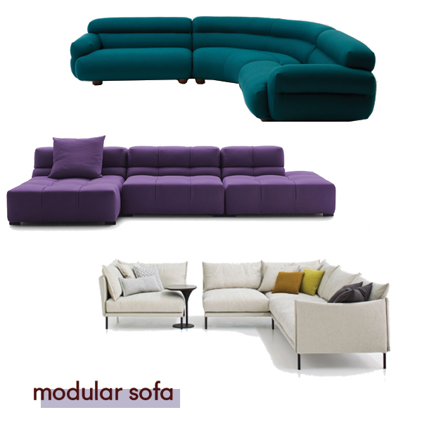 Valley sofa by    Jardan  ,  Tufty Time by B&B Italia, Gentry by Moroso from  Hub