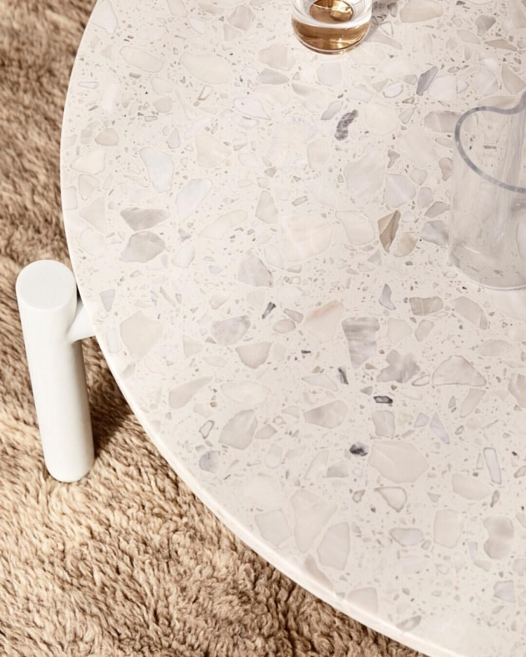 The terrazzo Jay Coffee Table by  Sarah Ellison .