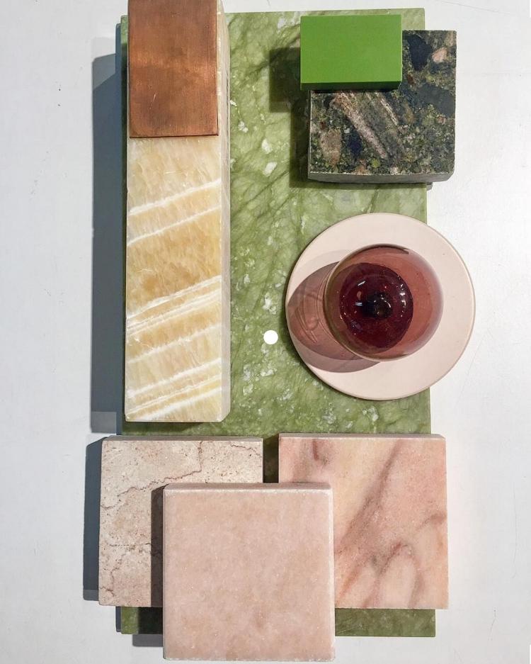 Materials palette by Mim Design via  Pinterest