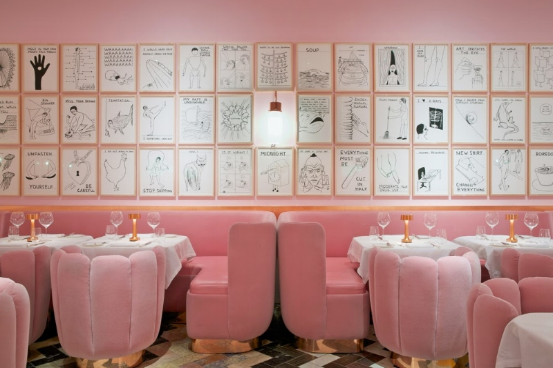 India Mahdavi is famous for the dusty pink she used at Sketch in London.