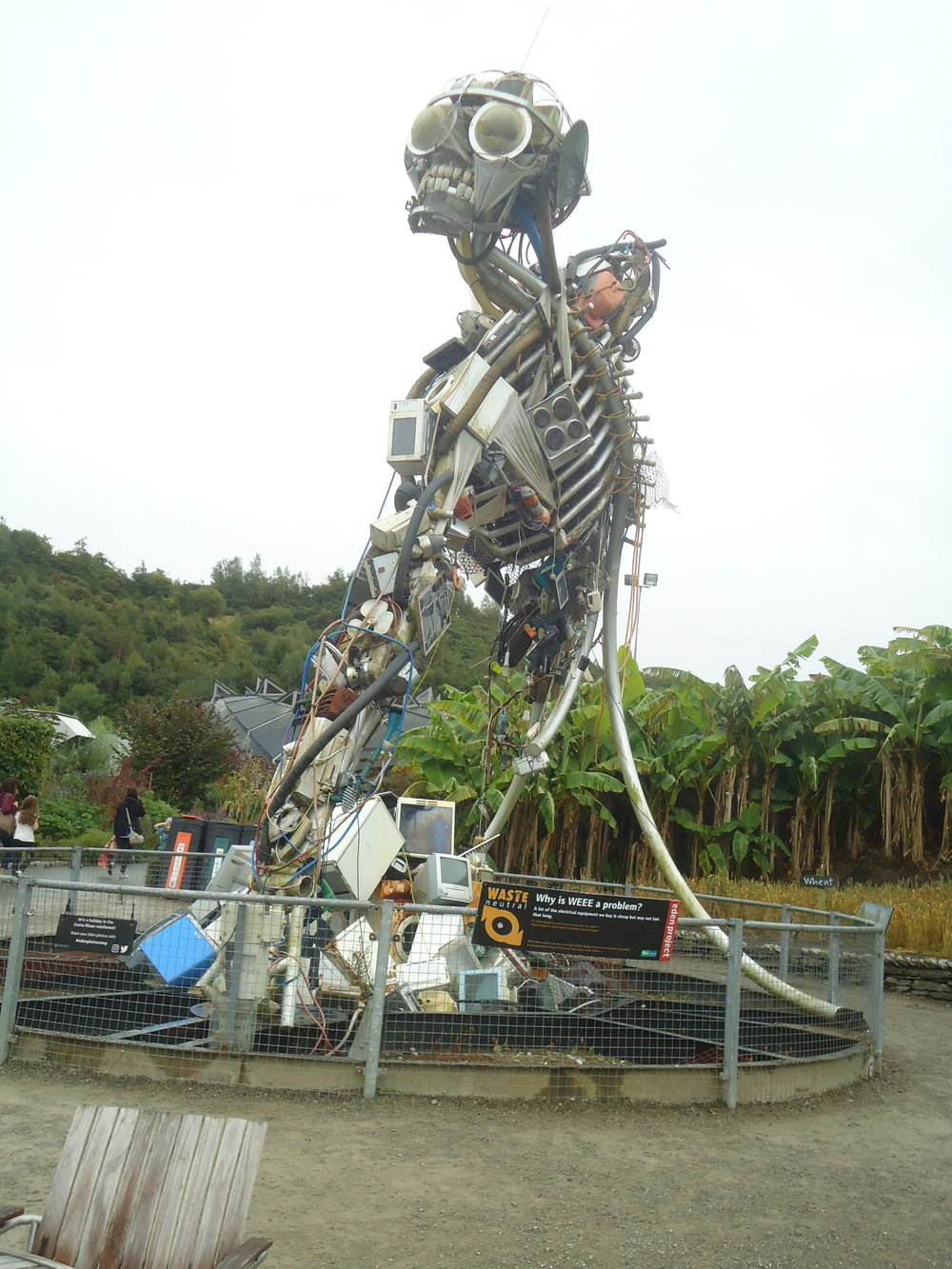 "Eden Project's ""WEEE Man"": one lifetime's electrical waste. Photo: Lindsay Wood"