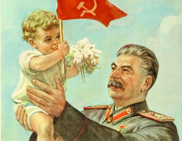 Nothing says 'charismatic dictator' better than a photo *ahem* painting opportunity with a baby!