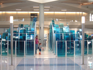 glass art installation Dallas airport