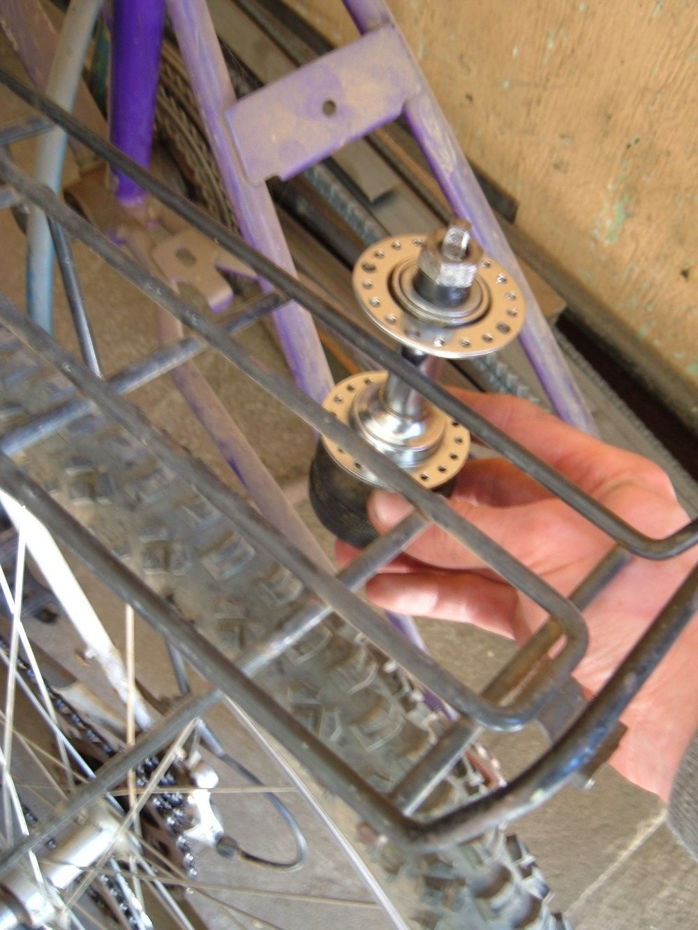 rear rack bike blender