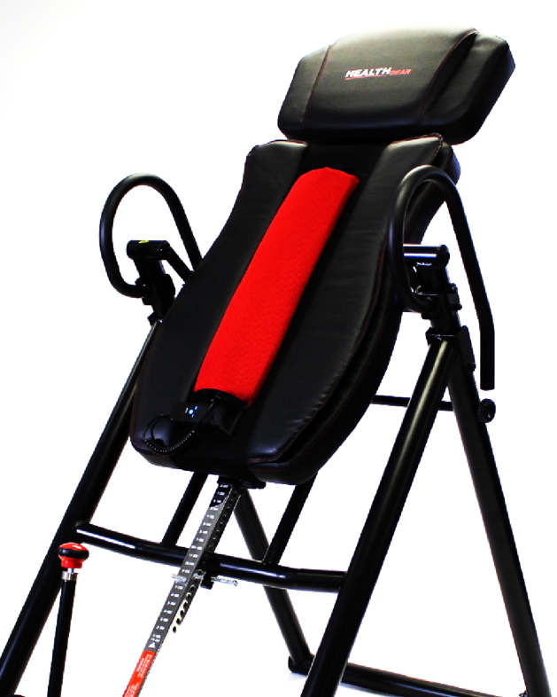 "The largest and sturdiest inversion table available on the market today. It boasts 400lb weight capacity and up to 7'0"" tall men"