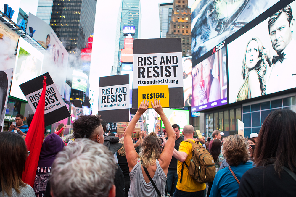 Rise and Resist Rally, Midtown Manhattan, September 18, 2017