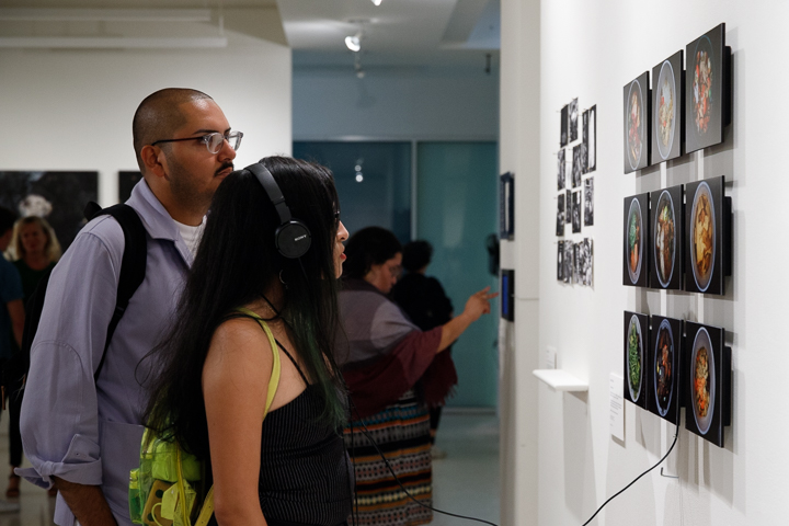 Guests engaging with Unclaimed Meals at the Rita K Hillman Education Gallery, Manhattan, June 22, 2018