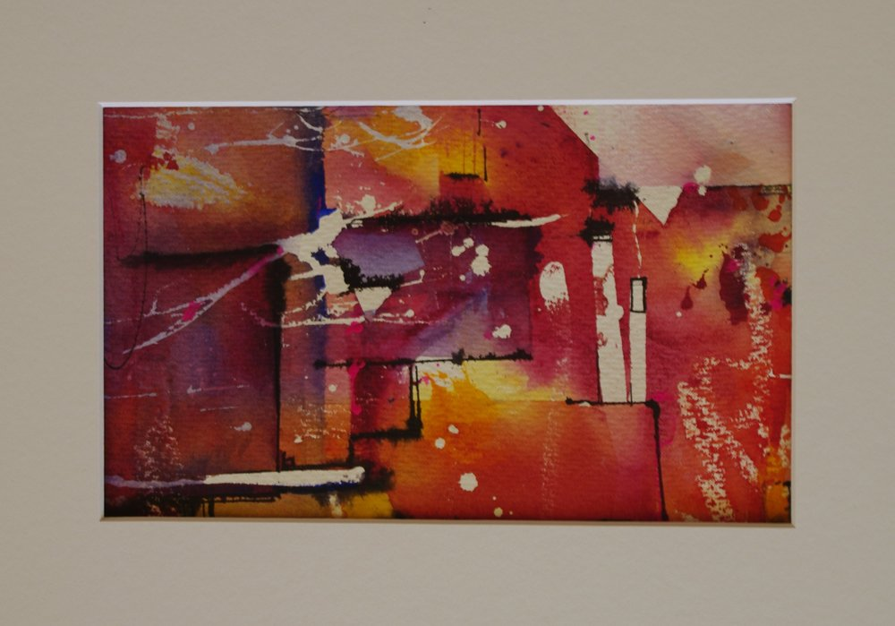 Abstract Orange    21cm x 13cm    Original Watercolour    Unframed     $85