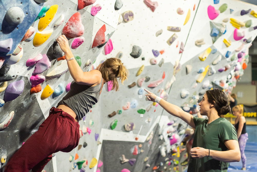 coaching for bouldering