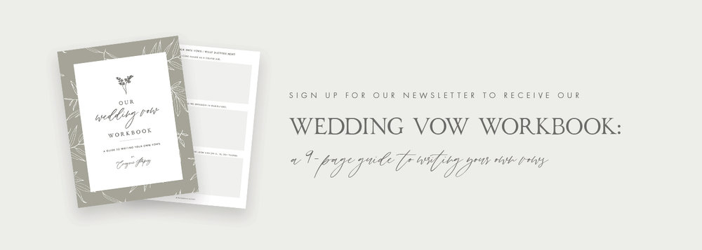 A Guide To Writing Your Own Vows - Our Wedding Vow Workbook - Free Resource Library - Evergreen Papery