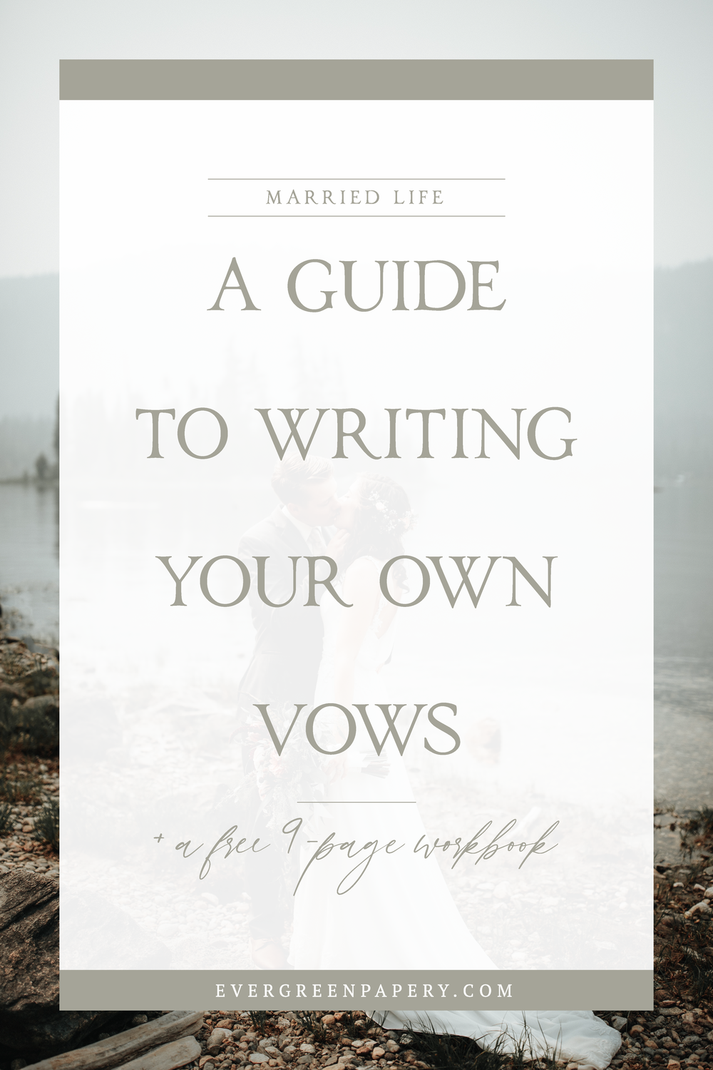 There is no better way to personalize your wedding ceremony than to write your own wedding vows. It's an opportunity to lay the building blocks of your marriage, share your love story with your guests, and exchange meaningful words with your other half. To help you conquer this task, I am sharing with you my top 9 tips to writing your own wedding vows plus a free workbook! - Evergreen Papery