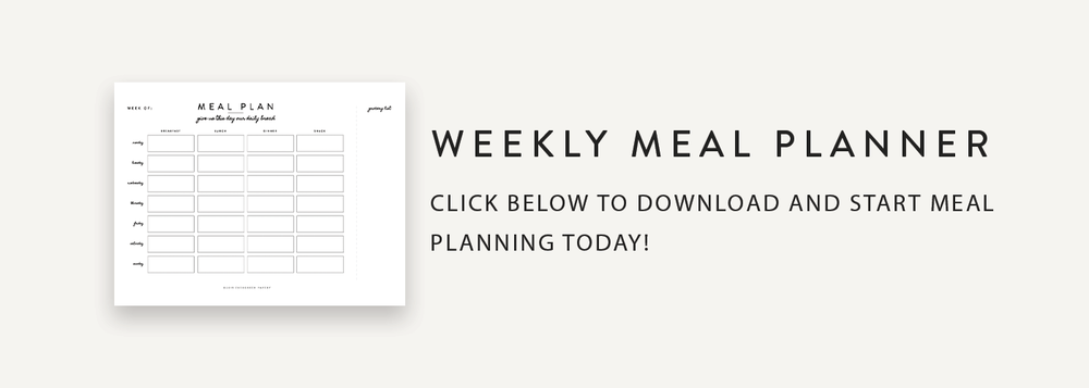 Download A Free Weekly Meal Planner - Evergreen Papery