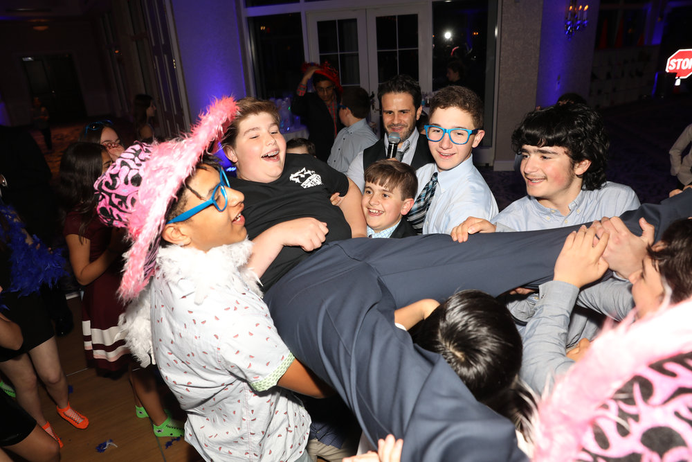 Bar Mitzvah action shot
