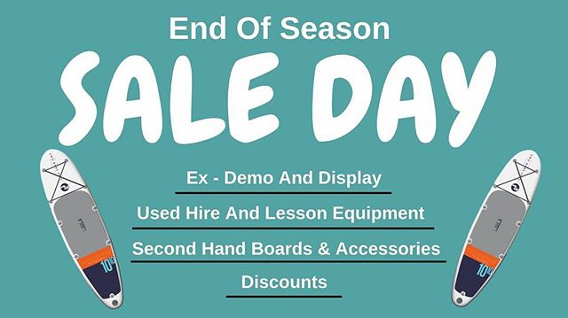 ❗️Sale Day - This Sunday❗️Don't miss out on our sale day where we will have some awesome sale boards and equipment up for grabs 🏄♂️