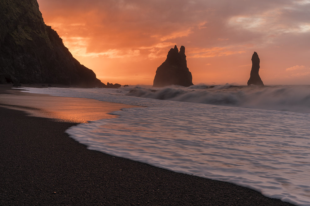 Vik black beach