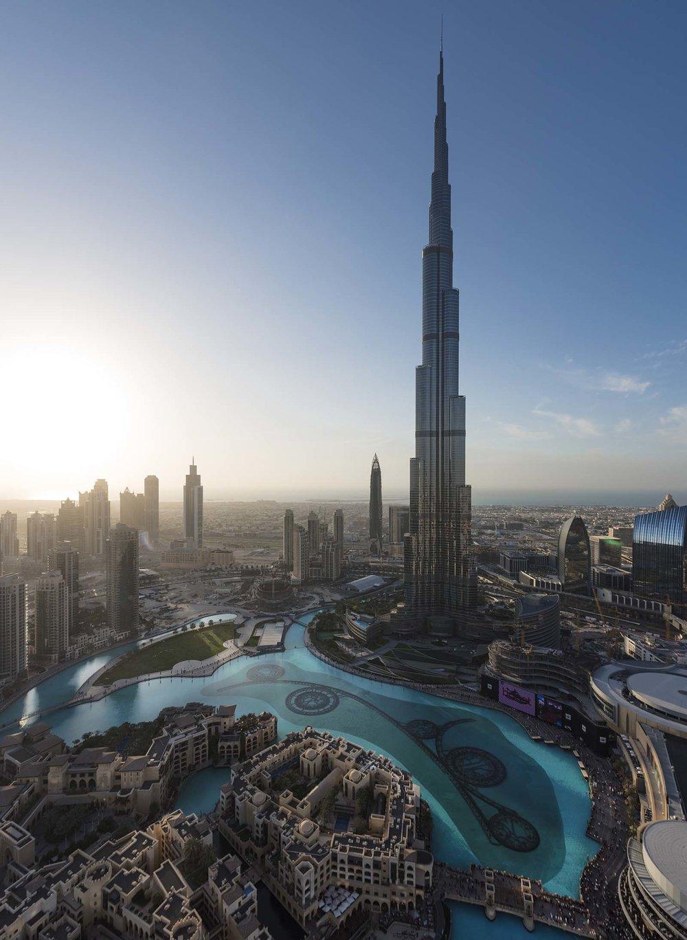 Burj Khalifa aerial view