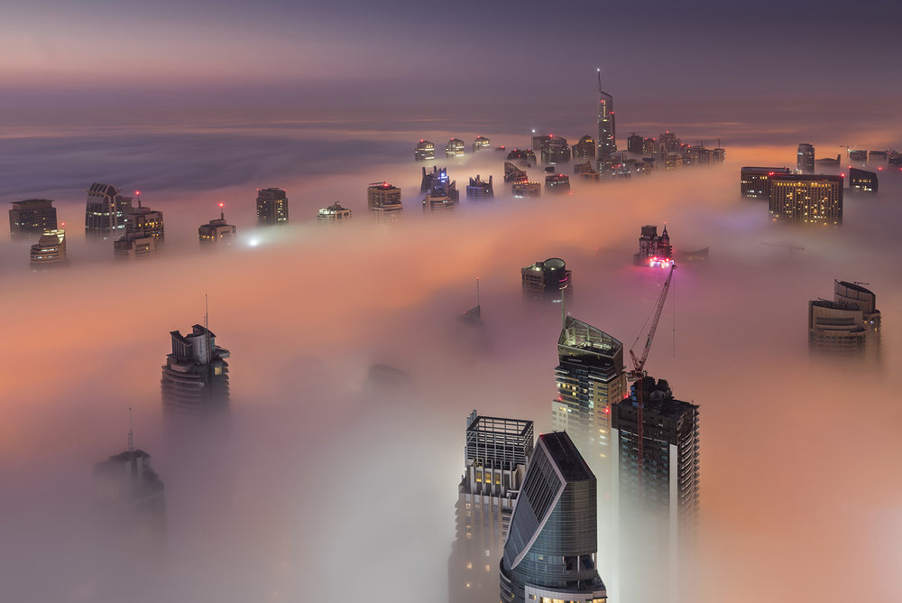 Dubai Marina fog