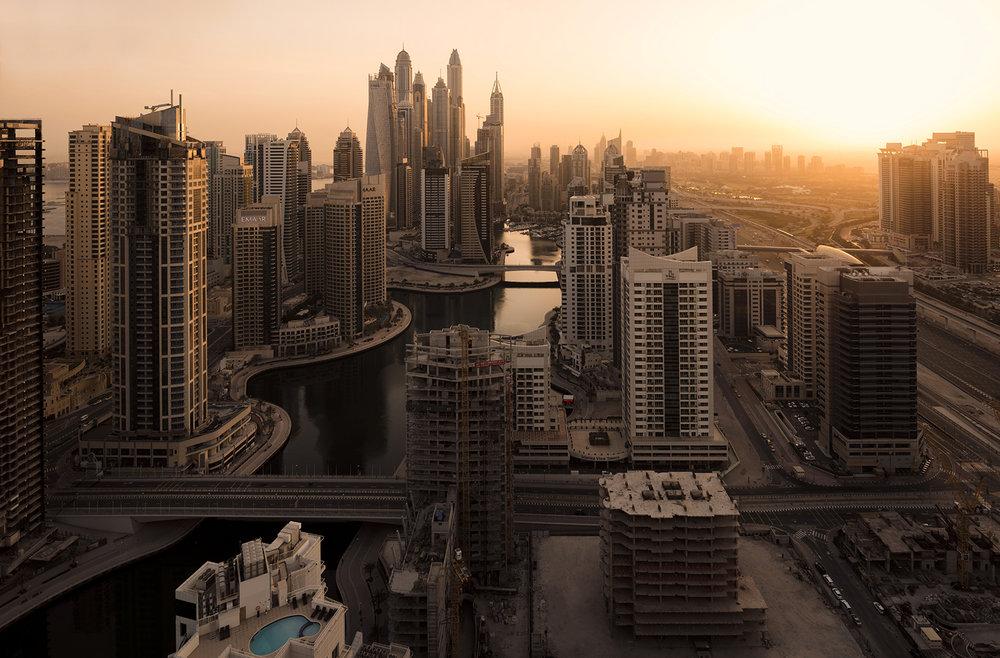 Dubai Marina aerial