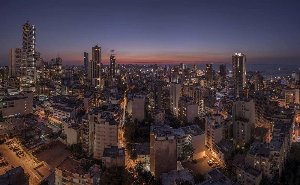 Ashrafieh aerial view