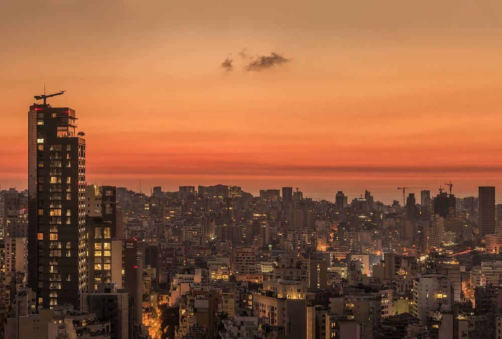 Beirut at sunset