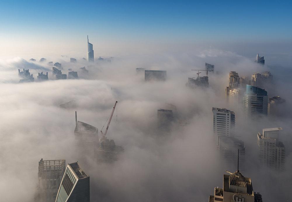 Dubai-Rooftop-Fog-Dubai Fog-Skylines-UAE- Dubai Photographer