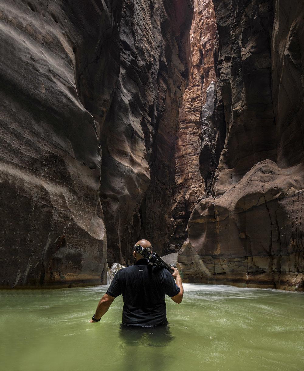 Crossing Wadi Mujib