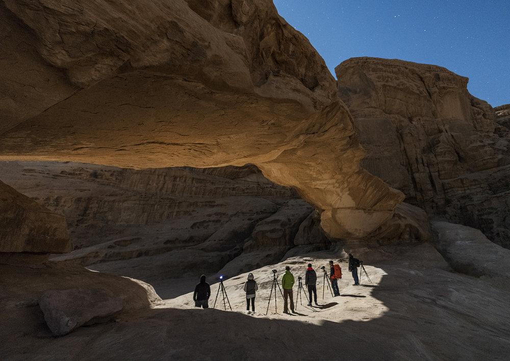 Under the Arch in Wadi Rum
