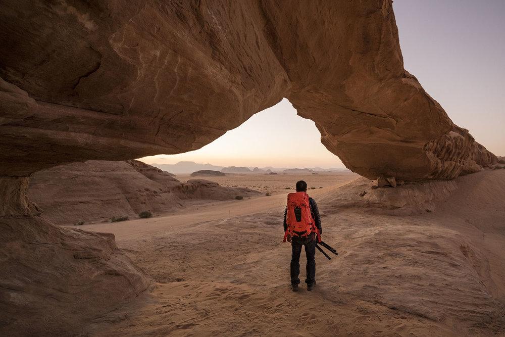 Photographer at Wadi Rum