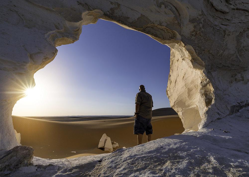 Natural arch at the white desert Egypt