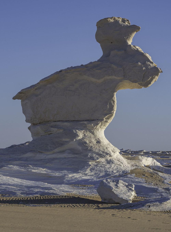 The rabbit rock formation at the white desert Egypt