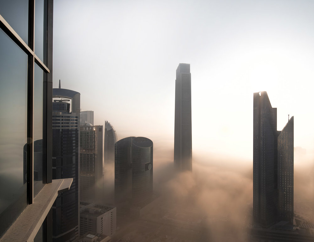 Dubai skyscape's during sunrise