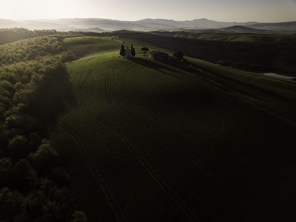 The Chapel of Our Lady of Vitaleta is a small sacred building is located on a hilltop on the road that connects San Quirico d'Orcia to Pienza
