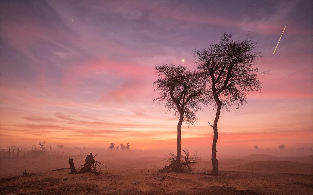 Maleh desert during sunrise