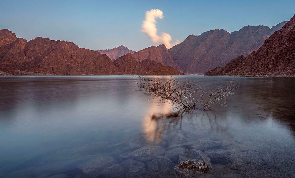 Hatta dam in UAE