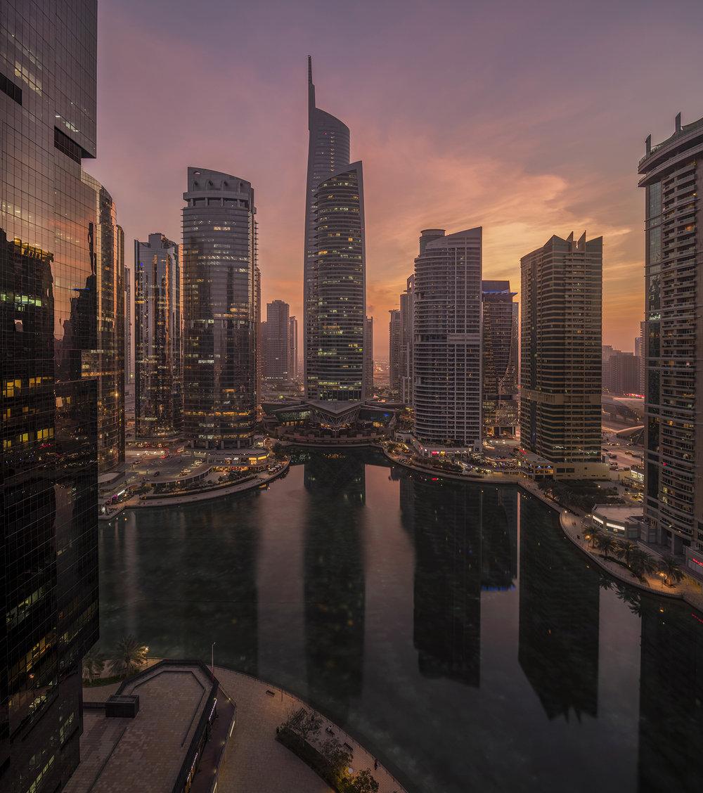 Jumeirah Lake Towers skylines