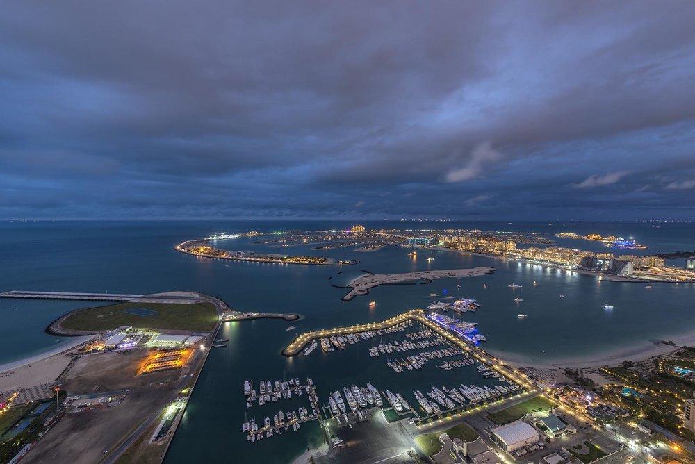 The Palm Dubai aerial view