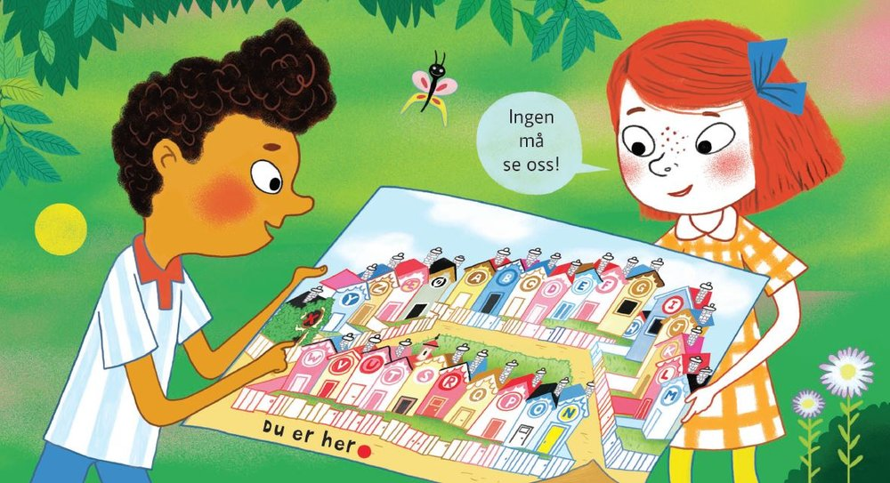 Sam og Ina må løse mange mysterier i de nye bokstavoppdragene.