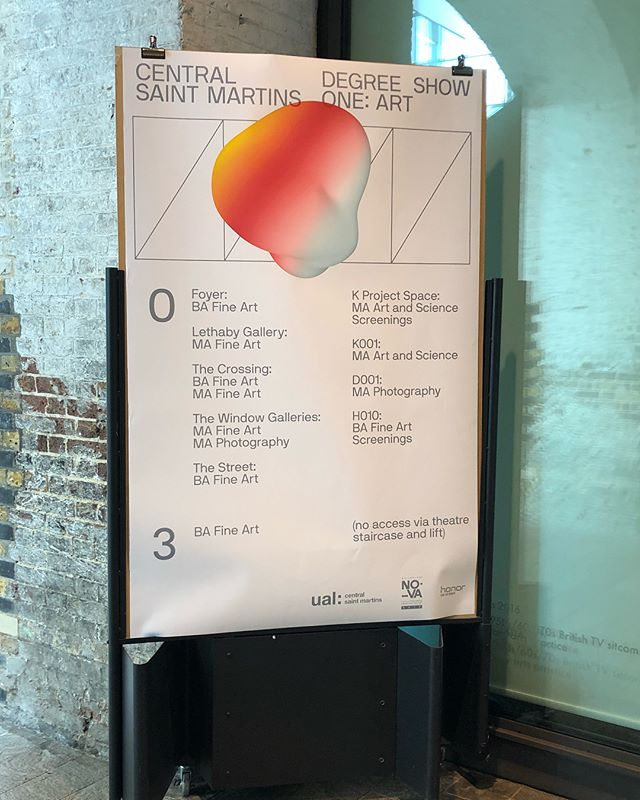 CSM Degree Show 1 showing Fine Art, Fine Art and Science and including Futures Studio fam @rosieback @livbargman @e.sher and show identity by @benjchan @m.chen_ | Open until Sunday 27 May