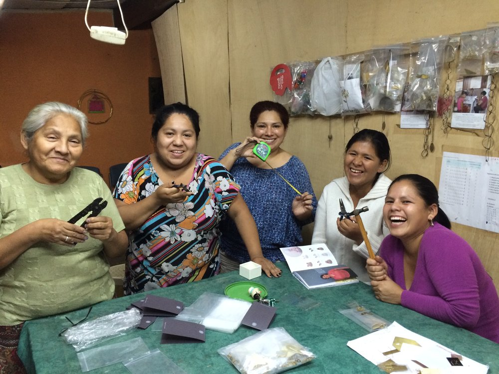 Cristina and the Hope Jewellery Project team