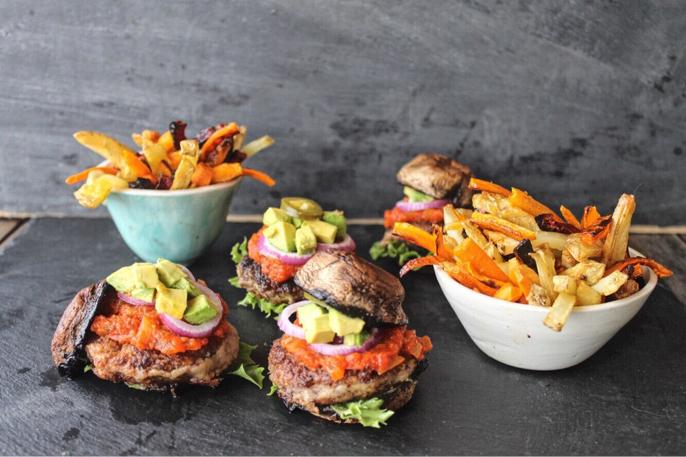 Kidney bean and sweet potato burgers -
