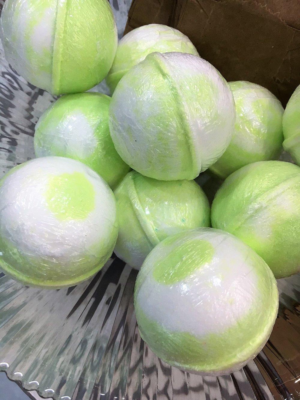 Lemon Verbena Bath Bombs