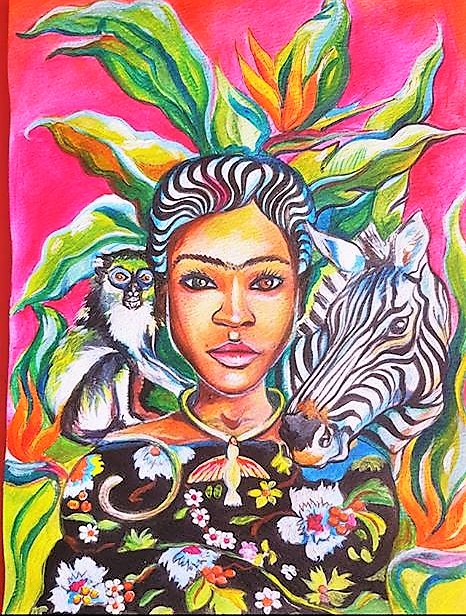 African Themed Painting