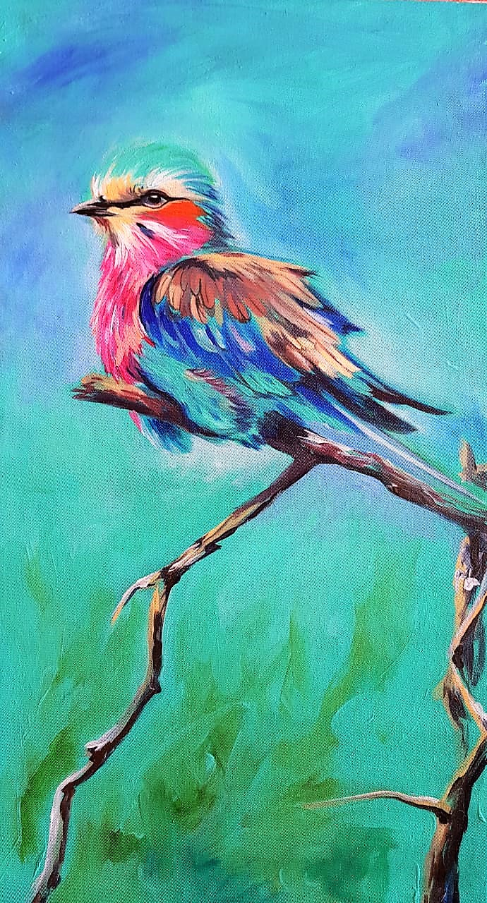 Lilac Roller Painting