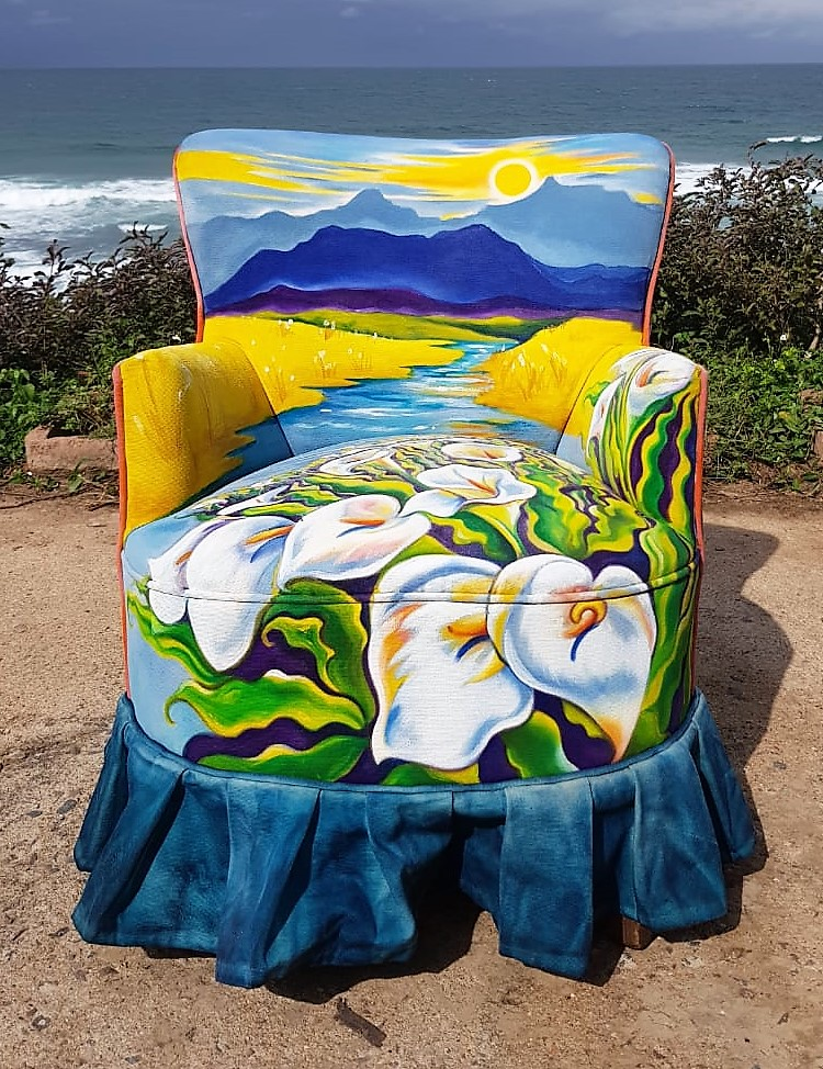 Mandy Brockbank Painted Chair