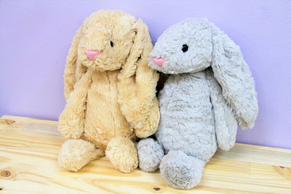 Soft Bunny Rabbit - R 150 each - Available in grey and cream.