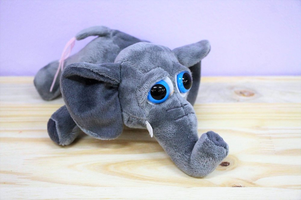 Elephant Plush Toy - R 65 - Part of our big-eyed cuddly collection.