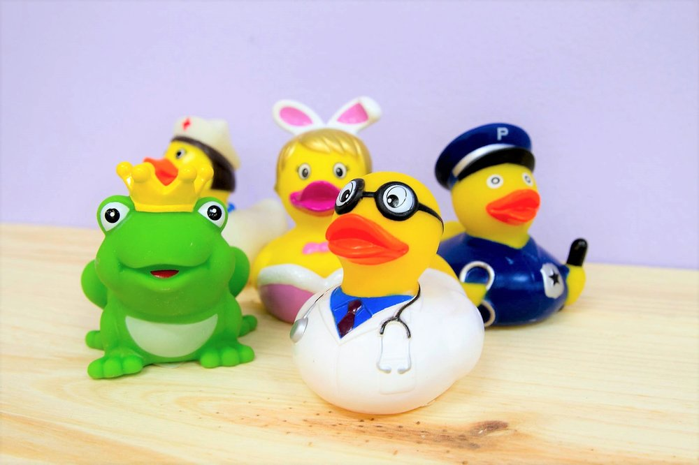 Assorted Rubber Ducks - R 50 each - More than 10 different designs - please inquire.