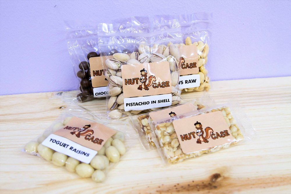 Nut Case Nibbles - R 15 to R 45 - Various Nuts - please inquire.